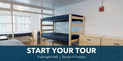 Fulbright Hall 4-Person Studio Room Tour